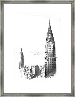 They Haven't Got A Single Tenant Framed Print by Carl Rose