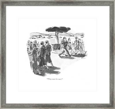 They Must Be Nuts Framed Print