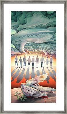 They Stand Resolute Framed Print by Amy S Turner