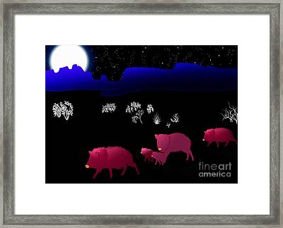 They Walk By Night Framed Print by Methune Hively