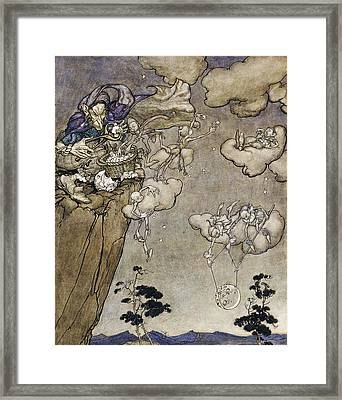 They Were Ruled By An Old Squaw Spirit Framed Print by Arthur Rackham