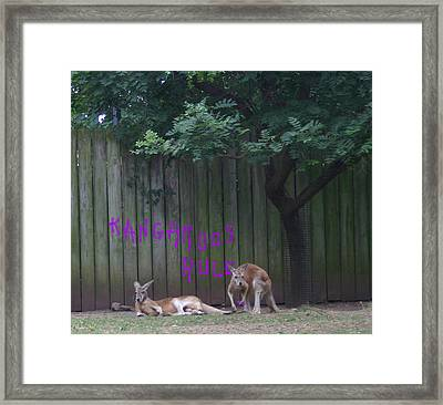 They Will Never Think It Was Us.. Framed Print by Nina Fosdick