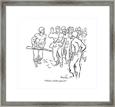 They're A Suicide Squad Framed Print