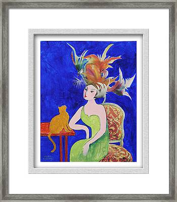 They're Just Feathers Framed Print by Eve Riser Roberts