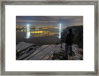 Theyu0027se Some Bright Ass Lights Framed Print By Mike Orso