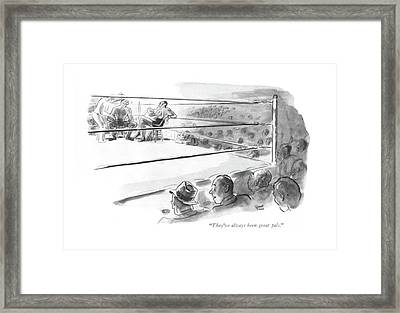 They've Always Been Great Pals Framed Print by Garrett Price