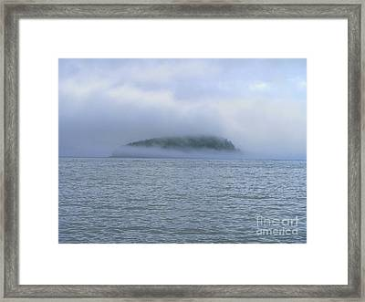 Thick As Pea Soup Framed Print by Elizabeth Dow