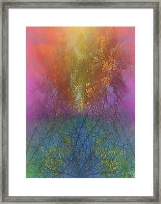 Framed Print featuring the digital art Thicket by Kelly McManus