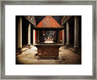 Framed Print featuring the photograph Thien Hau Temple  by Lucinda Walter