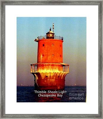 Thimble Shoals Light Framed Print