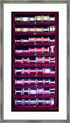 Thimbles In Cabinet Framed Print