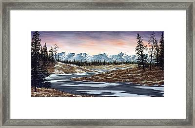 Thin Ice Framed Print