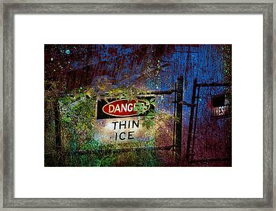Thin Ice Framed Print by Rick Mosher