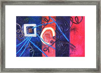 Thin Line Between Love And Sex Framed Print