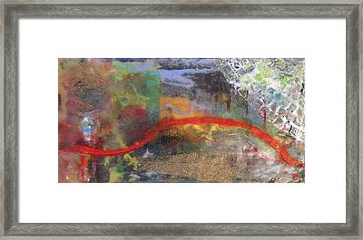 Thin Red Line #2 Framed Print
