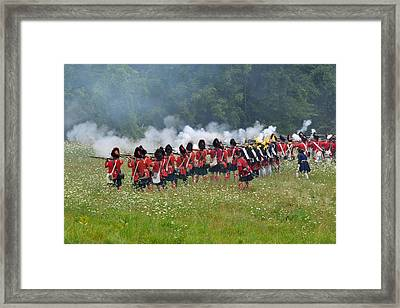 Thin Red Line Framed Print by William Coffey