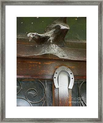 Framed Print featuring the photograph Thing Above The Door by Newel Hunter