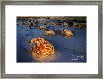 The Egg Factory  Bisti/de-na-zin Wilderness At Night Framed Print by Bob Christopher