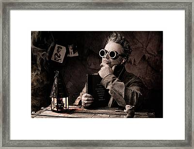 Things To Consider - Steampunk - World Domination Framed Print by Gary Heller