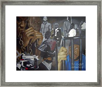 Think Black Man Framed Print