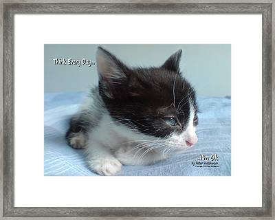 Think Every Day I'm Ok Framed Print