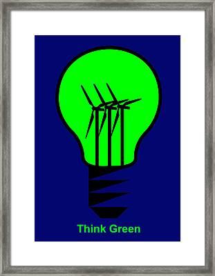 Think Green Framed Print by Asbjorn Lonvig