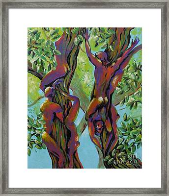 Framed Print featuring the painting Think Like A Tree by Robert D McBain