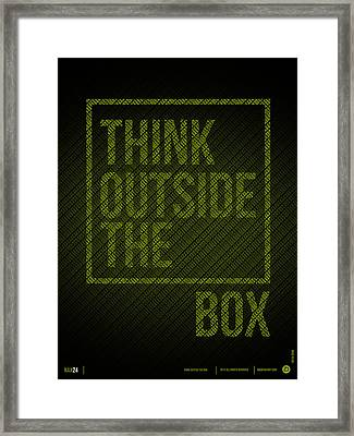 Think Outside Of The Box Poster Framed Print by Naxart Studio