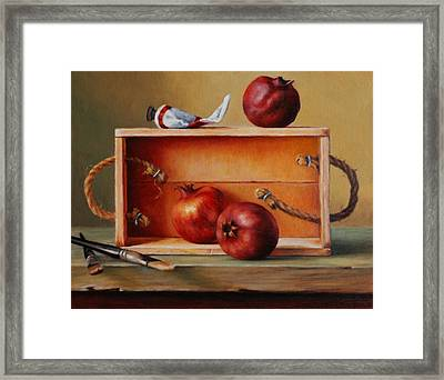 Think Outside The Box Framed Print by Dan Petrov