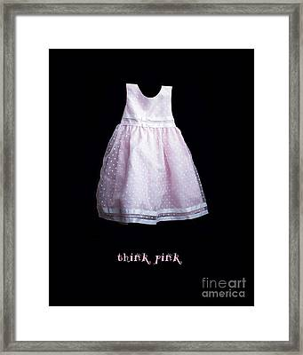 Think Pink Framed Print