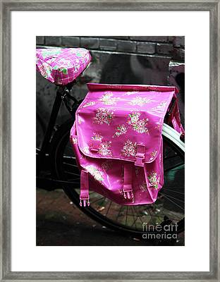 Think Pink Framed Print by John Rizzuto