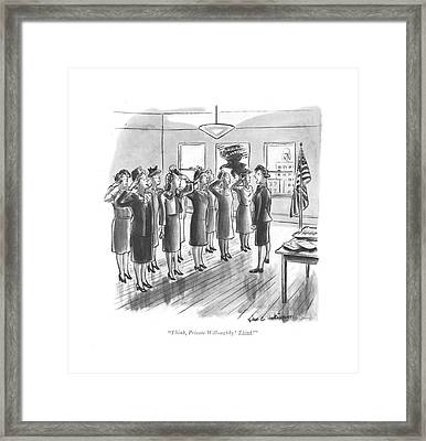 Think, Private Willoughby! Think! Framed Print