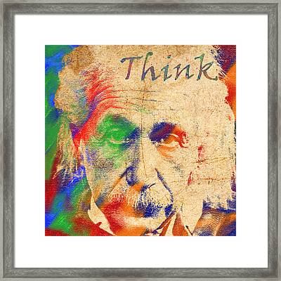 Think Framed Print by Soumya Bouchachi