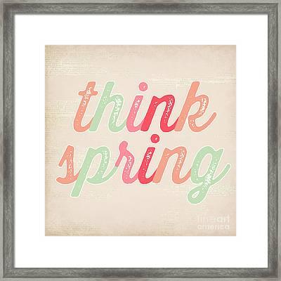 Think Spring Framed Print by Natalie Skywalker