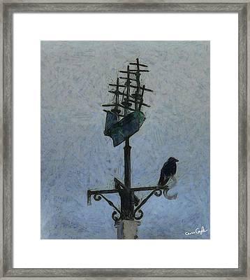 Thinkin Of Flyin South Framed Print by Chris Coyle