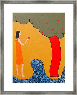 Thinking About The Apple Framed Print by Patrick J Murphy