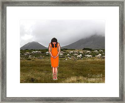 Thinking About The Shepherd Framed Print by Patrick J Murphy