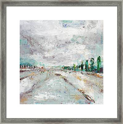 Thinking About Winter In Summer Time 1 Framed Print by Becky Kim