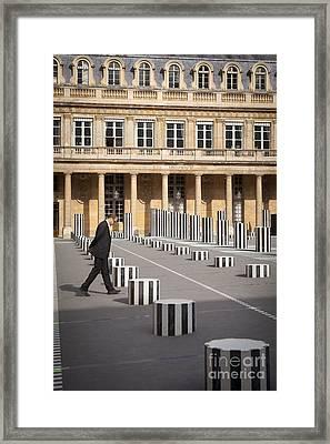 Thinking - At Palais Royal Framed Print by Brian Jannsen