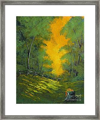 Thinking Green Framed Print
