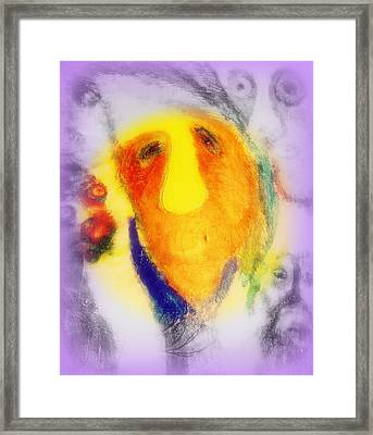 When You Are Thinking Hard But Hardly Thinking  Framed Print by Hilde Widerberg