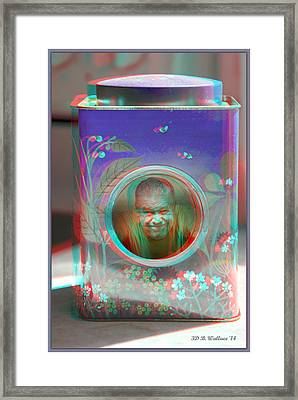 Thinking Inside The Box - Red/cyan Filtered 3d Glasses Required Framed Print by Brian Wallace