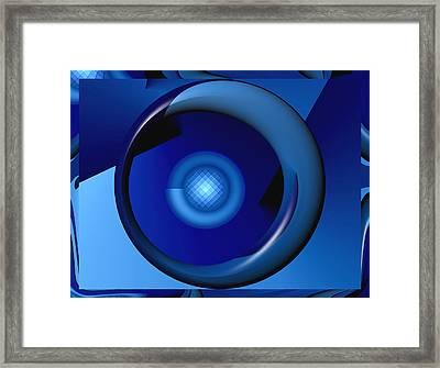 Thinking Of Blue Framed Print