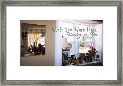 Thinking Of You Framed Print by Angelia Hodges Clay