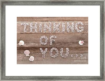 Thinking Of You Framed Print by Olivier Le Queinec