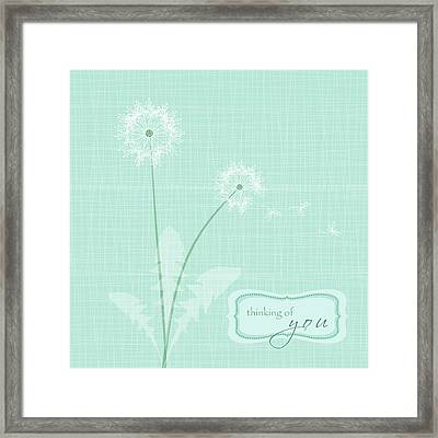 Thinking Of You Framed Print by P.s. Art Studios