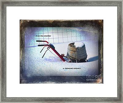 Thinking Spring Framed Print by The Stone Age