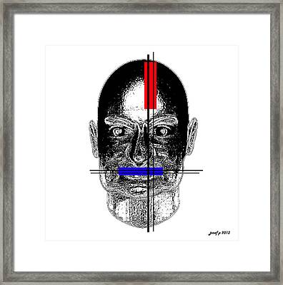 Thiothixene Controlled Thoughts  Framed Print by Sir Josef - Social Critic -  Maha Art
