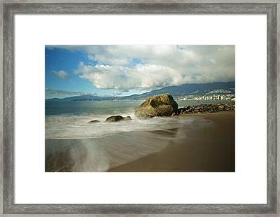 Third Beach In Vancouver Framed Print by Ann  Badjura