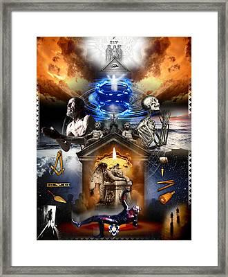Third Degree Masonic Tracing Board Framed Print